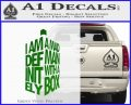 Doctor Who Tardis Mad Man With A Box Decal Sticker Green Vinyl Logo 120x97