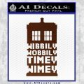 Doctor Who Tardis Wibbly Wobbly Timey Wimey Decal Sticker BROWN Vinyl 120x120
