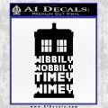 Doctor Who Tardis Wibbly Wobbly Timey Wimey Decal Sticker Black Vinyl 120x120