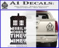 Doctor Who Tardis Wibbly Wobbly Timey Wimey Decal Sticker Carbon FIber Black Vinyl 120x97