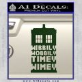 Doctor Who Tardis Wibbly Wobbly Timey Wimey Decal Sticker Dark Green Vinyl 120x120