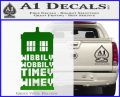 Doctor Who Tardis Wibbly Wobbly Timey Wimey Decal Sticker Green Vinyl Logo 120x97