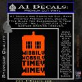 Doctor Who Tardis Wibbly Wobbly Timey Wimey Decal Sticker Orange Emblem 120x120