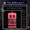 Doctor Who Tardis Wibbly Wobbly Timey Wimey Decal Sticker Pink Emblem 120x120