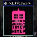 Doctor Who Tardis Wibbly Wobbly Timey Wimey Decal Sticker Pink Hot Vinyl 120x120