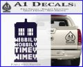 Doctor Who Tardis Wibbly Wobbly Timey Wimey Decal Sticker PurpleEmblem Logo 120x97