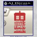 Doctor Who Tardis Wibbly Wobbly Timey Wimey Decal Sticker Red 120x120