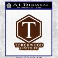 Doctor Who Torchwood Institute T Decal Sticker BROWN Vinyl 120x120
