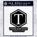 Doctor Who Torchwood Institute T Decal Sticker Black Vinyl 120x120