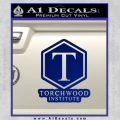 Doctor Who Torchwood Institute T Decal Sticker Blue Vinyl 120x120