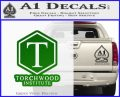 Doctor Who Torchwood Institute T Decal Sticker Green Vinyl Logo 120x97