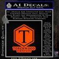 Doctor Who Torchwood Institute T Decal Sticker Orange Emblem 120x120