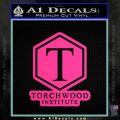 Doctor Who Torchwood Institute T Decal Sticker Pink Hot Vinyl 120x120