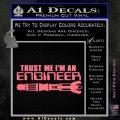Doctor Who Trust Me Im An Engineer Decal Sticker Pink Emblem 120x120