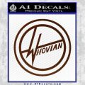 Doctor Who Whovian D2 Decal Sticker BROWN Vinyl 120x120