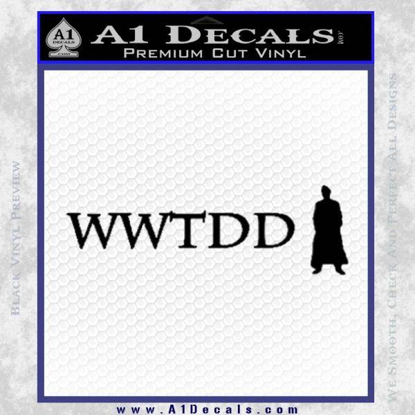 Doctor Who Wwtdd Decal Sticker Black Vinyl