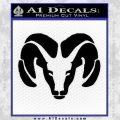 Dodge Ram Decal Sticker Black Vinyl 120x120