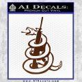 Dont Tread On Me Snake Machine Gun Decal Sticker BROWN Vinyl 120x120