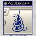 Dont Tread On Me Snake Machine Gun Decal Sticker Blue Vinyl 120x120