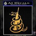 Dont Tread On Me Snake Machine Gun Decal Sticker Gold Vinyl 120x120