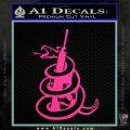 Dont Tread On Me Snake Machine Gun Decal Sticker Pink Hot Vinyl 120x120