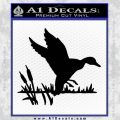 Duck In Swamp Decal Sticker Black Vinyl 120x120