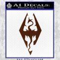 Elder Scrolls Skyrim Decal Sticker BROWN Vinyl 120x120