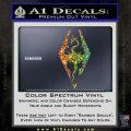 Elder Scrolls Skyrim Decal Sticker Glitter Sparkle 120x120
