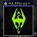 Elder Scrolls Skyrim Decal Sticker Lime Green Vinyl 120x120