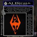 Elder Scrolls Skyrim Decal Sticker Orange Emblem 120x120
