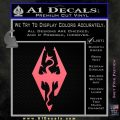 Elder Scrolls Skyrim Decal Sticker Pink Emblem 120x120