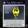 Elder Scrolls Skyrim Decal Sticker Yellow Laptop 120x120