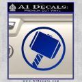 Greek God Hammer Decal Sticker D1 Blue Vinyl Black 120x120