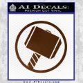 Greek God Hammer Decal Sticker D1 Brown Vinyl Black 120x120
