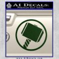 Greek God Hammer Decal Sticker D1 Dark Green Vinyl Black 120x120