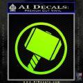 Greek God Hammer Decal Sticker D1 Neon Green Vinyl Black 120x120