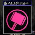 Greek God Hammer Decal Sticker D1 Neon Pink Vinyl Black 120x120