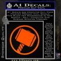 Greek God Hammer Decal Sticker D1 Orange Emblem Black 120x120