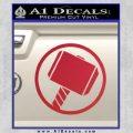 Greek God Hammer Decal Sticker D1 Red Vinyl Black 120x120