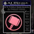 Greek God Hammer Decal Sticker D1 Soft Pink Emblem Black 120x120