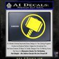 Greek God Hammer Decal Sticker D1 Yellow Vinyl Black 120x120
