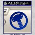 Greek God Hammer Decal Sticker D2 Blue Vinyl Black 120x120
