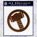 Greek God Hammer Decal Sticker D2 Brown Vinyl Black 120x120