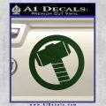 Greek God Hammer Decal Sticker D2 Dark Green Vinyl Black 120x120