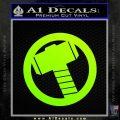 Greek God Hammer Decal Sticker D2 Neon Green Vinyl Black 120x120