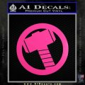 Greek God Hammer Decal Sticker D2 Neon Pink Vinyl Black 120x120