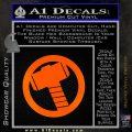 Greek God Hammer Decal Sticker D2 Orange Emblem Black 120x120
