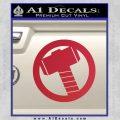 Greek God Hammer Decal Sticker D2 Red Vinyl Black 120x120
