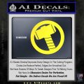 Greek God Hammer Decal Sticker D2 Yellow Vinyl Black 120x120