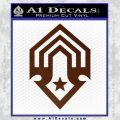 Halo Corbulo Academy of Military Science Logo Decal Sticker BROWN Vinyl 120x120